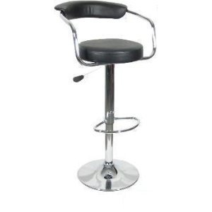 Click here to buy Black - Omicron Kitchen Padded Bar Stool by Premium Outlet.