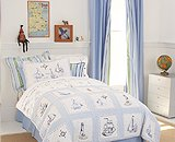 Whistle & Wink - Twin Size Bedskirt - Blue front-289089