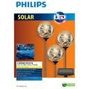 Philips 3 Globes - White Solar Led Lawn Stakes