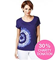 Fashion Targets Pure Cotton Side Print T-Shirt