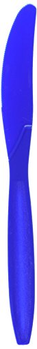 Amscan Big Party Pack 100 Count Mid Weight Plastic Knives, Bright Royal Blue