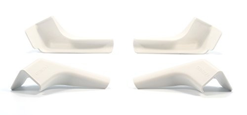 Camco 42462 White Wide Gutter Spout, (Pack of 4)