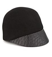 M&S Collection Peak Front Cap with Wool