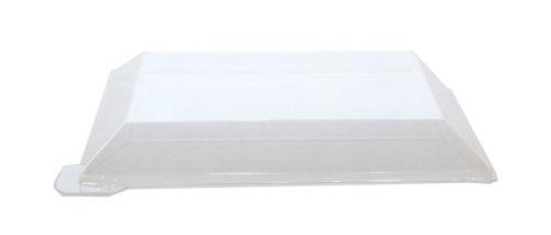 PacknWood 210KLARL1813L Klarity Clear PET Plastic Lid For 210KLAR1813, 7-Inch Long x 5.1-Inch Wide x 1.2-Inch High (2 Packs of 50)
