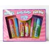 Rainbow Nerds, Laffy Taffy Fun Dip Flavored Lip Gloss & Lip Balm 6 Piece Set