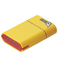 OWLEYE 1882-Super High Power 5 LED Rechargeable Li-ion Taillight Yellow. BE SAFE - BE SEEN !