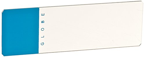 Globe Scientific 1324B Glass Microscope Slide, 25Mm Width X 75Mm Length, 90° Ground Edges With Safety Corners, Blue Frosted (Case Of 1440)
