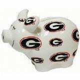 NCAA Georgia Bulldogs Piggy Bank with All Over Logo