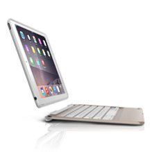ZAGG Slim Book Case, Ultrathin, Hinged with Detachable Backlit Keyboard for iPad Air 2 - Gold
