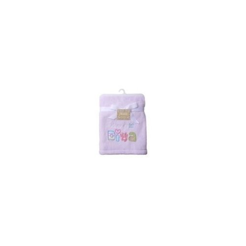 "Baby Starters Plush Blanket with ""Mommy's Little Diva"" Applique - Purple - 1"