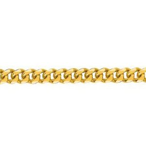 14K Solid Yellow Gold Gourmette Chain Necklace 2mm thick 18 Inches