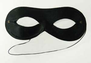 Zorro Black Sateen Bandit Cat Masquerade Fancy Dress Party Unisex Eye Mask