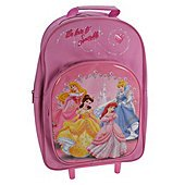 disney princess wheeled rucksack/carry case by trademark collections