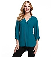 M&S Collection V-Neck Soft Blouse
