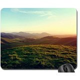 Soft Light over the Hills Mouse Pad, Mousepad (Sky Mouse Pad)