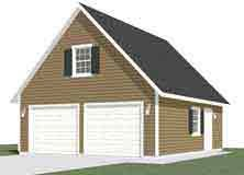 Garage Plans Two Car Garage With Loft Plan 856 1