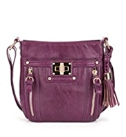 M&S Collection Glamour Turn Lock Cross-Body Bag