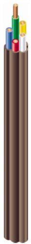 Southwire 64169622 5 Conductor 18/5 Thermostat Wire, 18-Gauge Solid Copper Class 2 Power-Limited Circuit Cable, Brown