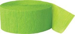 Crepe Streamer 81 Feet 2/Pkg-Lime Green
