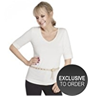 Twiggy for M&S Collection V-Neck T-Shirt