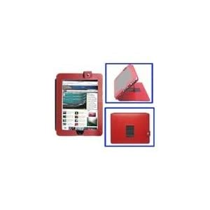 Deluxe Leather Apple Ipad Case with Built-in Stand (Red)