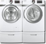 Samsung White Front Load Steam Washer and Electric Dryer (WF419AAW_DV419AEW ....
