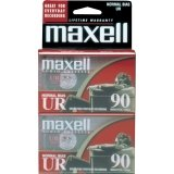 MAXELL UR-90 Blank Audio Cassette Tape (2 pack)