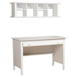 Buy Low Price Comfortable White Contemporary Computer Desk with Hutch – Prepac WWD-4730-K (B005LWN1AI)