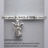 Silver Nurse's Blessing Prayer Bracelet...God Bless Nurses