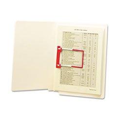 * U-Clip Bonded File Fasteners, Two Inch Capacity, Orange and White, 100/Box mystery mot 3333