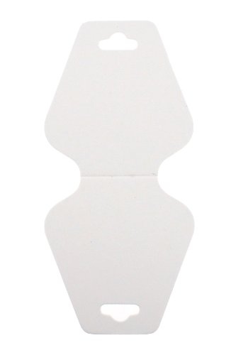 Trimweaver 100-Piece Triangular Fold Over Display Cards, White (Hair Display Cards compare prices)