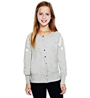 Autograph Lace & Bead Embellished Cardigan with Modal