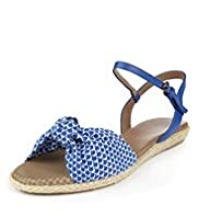 Footglove™ Fashion Wide Fit Raffia Knot Sandals