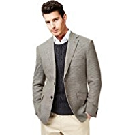 Collezione Wool Rich 2 Button Mini Checked Jacket