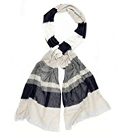 Per Una Mirror Striped Scarf