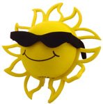 California Sunshine Open Ray Sun Antenna Ball Topper