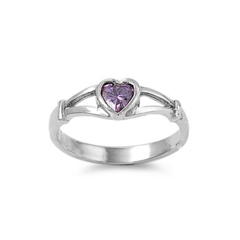 Sterling Silver Baby Ring for Child - Silver