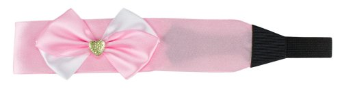 24.5cm Satin Fabric Bow Hair Band Tie + Rhinestones Various Colours HC-18-FREE SHIPPING