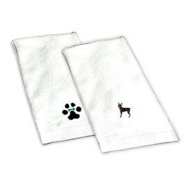 8H-Miniature Pinscher Hand Towel