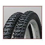 【ML26-175MTB】26x1.75 タイヤ・チューブ(英式)各2本セット 黒