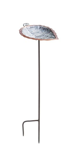 Achla Designs Aspen Leaf Birdbath with Stand