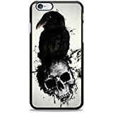 Raven And Skull for iPhone 6 Case Cover, iPhone 6S Case Cover Made & Ship From US
