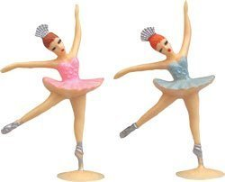 Ballerina Cake Toppers - 2 pcs - 1