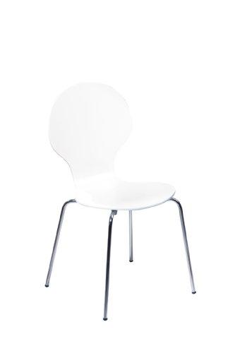 Links - Think Design,  Formici 30200610 - Confezione da 4 sedie, colore: Bianco