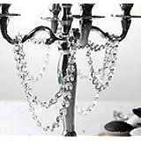 1m CLEAR CYRSTAL ACRYLIC RING STRAND GARLAND/WEDDING TABLE CRYSTAL TREES