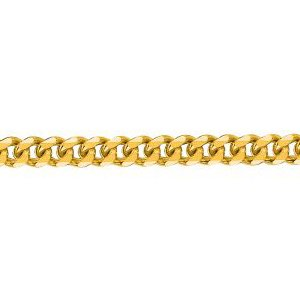 10K Solid Yellow Gold Gourmette Chain Necklace 2mm thick 24 Inches