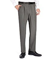 Crease Resistant Twin Pleat Regular Fit Trousers