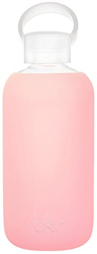 Bkr® Bottle : Bubbly Glass Water Bottle + Soft Silicone Sleeve (Gloss) front-37221