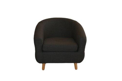 Charcoal Fabric Tub Chair-New Design-Modern
