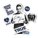 One Direction Limited Edition 1d + Od Together Locker Decals, Liam - True, Navy Blue